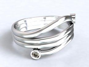 Stříbrný prsten alien 324001