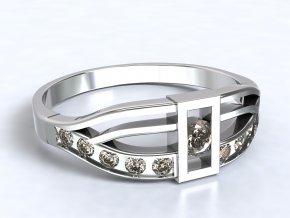 Stříbrný prsten Péťa