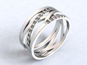 Ag925 prsten výhybka zirkony