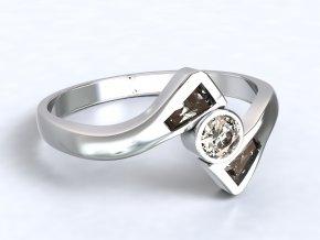 Stříbrný prsten ploutve