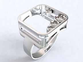 Stříbrný prsten obraz