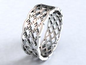 Ag925 prsten mesh
