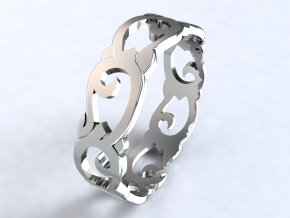 Stříbrný prsten art