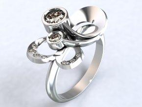Ag925 prsten kytka velká