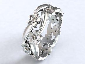 Ag925 prsten kytičky v liáně