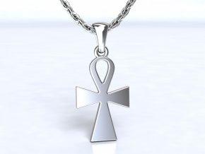 Stříbrý přívěsek eEgyptský-nilský kříž Ankh 011801