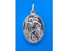 Stříbrný přívěsek Svatý Kryštof