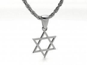 Přívěsek Davidova hvězda stříbrná