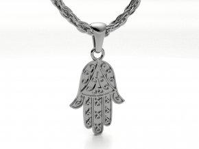 Přívěsek hamsa - chamsa ruka stříbrná 052501