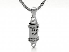 Přívěsek mezuza stříbrná 052701