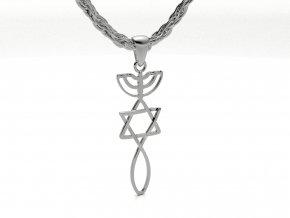 Přívěsek izraelská pečeť stříbrná 053301