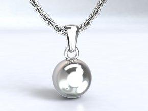 Přívěsek kulička plná stříbrná 100701