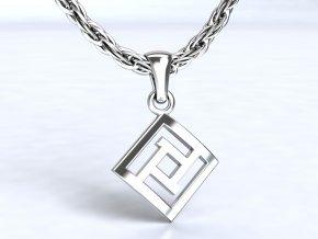 Přívěsek labyrint stříbrný