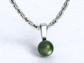 Přívěsek perla stříbrný 104301