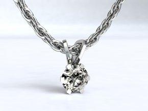 Stříbrný přívěsek korunka 108101