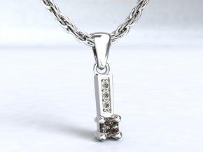 Přívěsek krapny stříbrný 108901