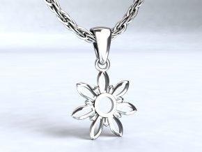 Stříbrný přívěsek kytka