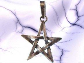 Stříbrný přívěsek pentagram