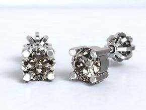 Náušnice šroubky zirkon 4,5 mm stříbrné 211201