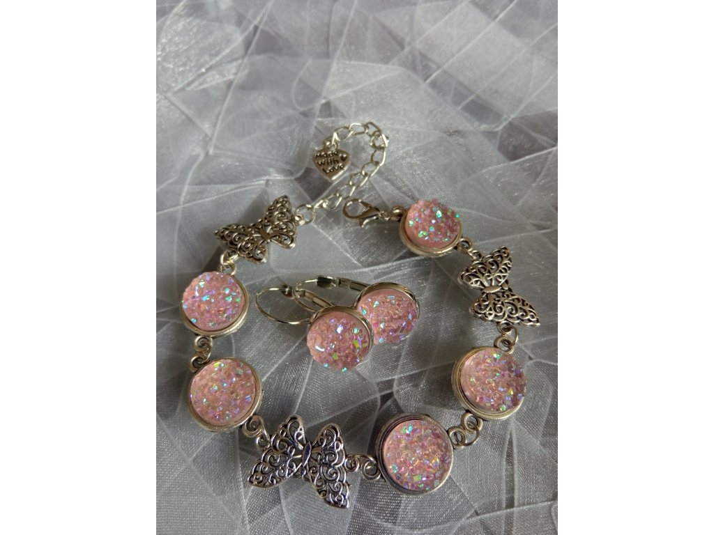 SPRING BUTTERFLY Set Pink AB