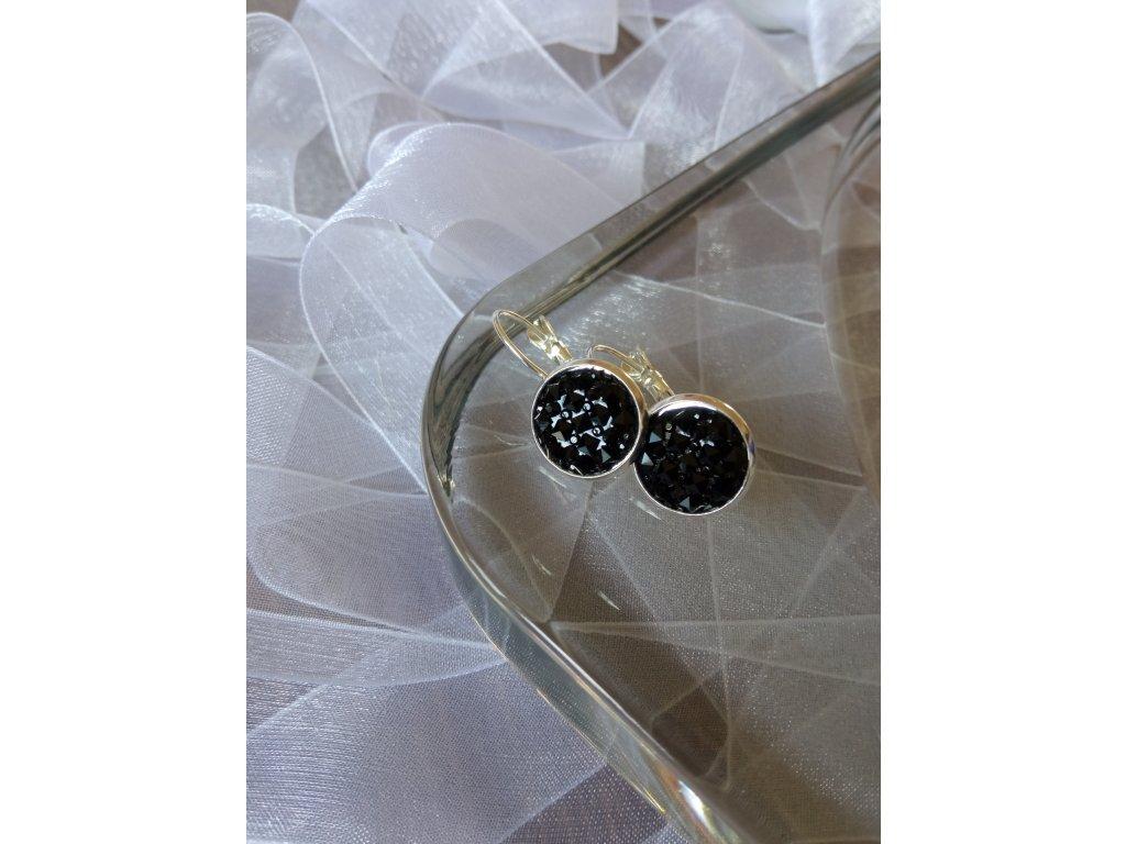 Zavírací náušnice DIAMOND STONE Clasic