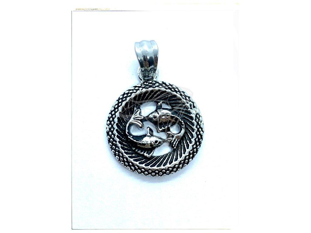 (O3036) Ocelový přívěsek ZNAMENÍ ZVĚROKRUHU / RYBY