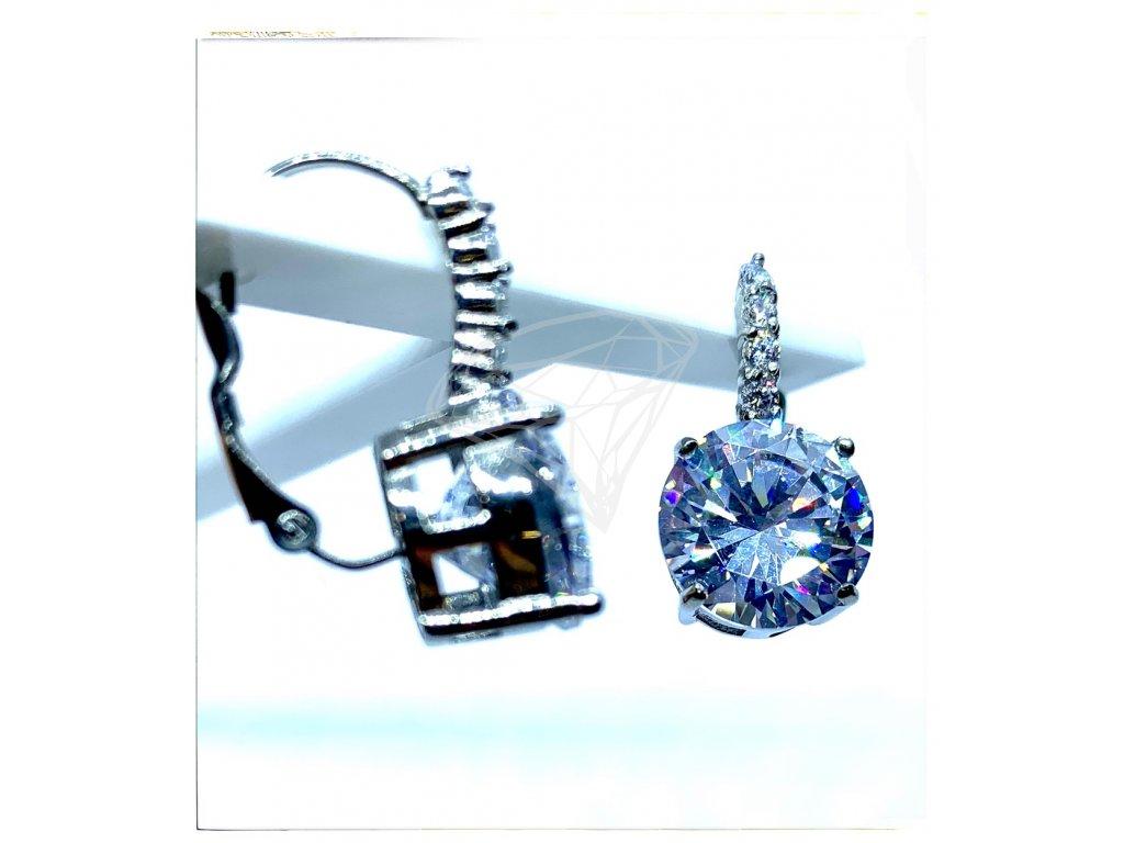 (O201) Ocelové dámské náušnice s kamínky (1,2 cm), na klapku