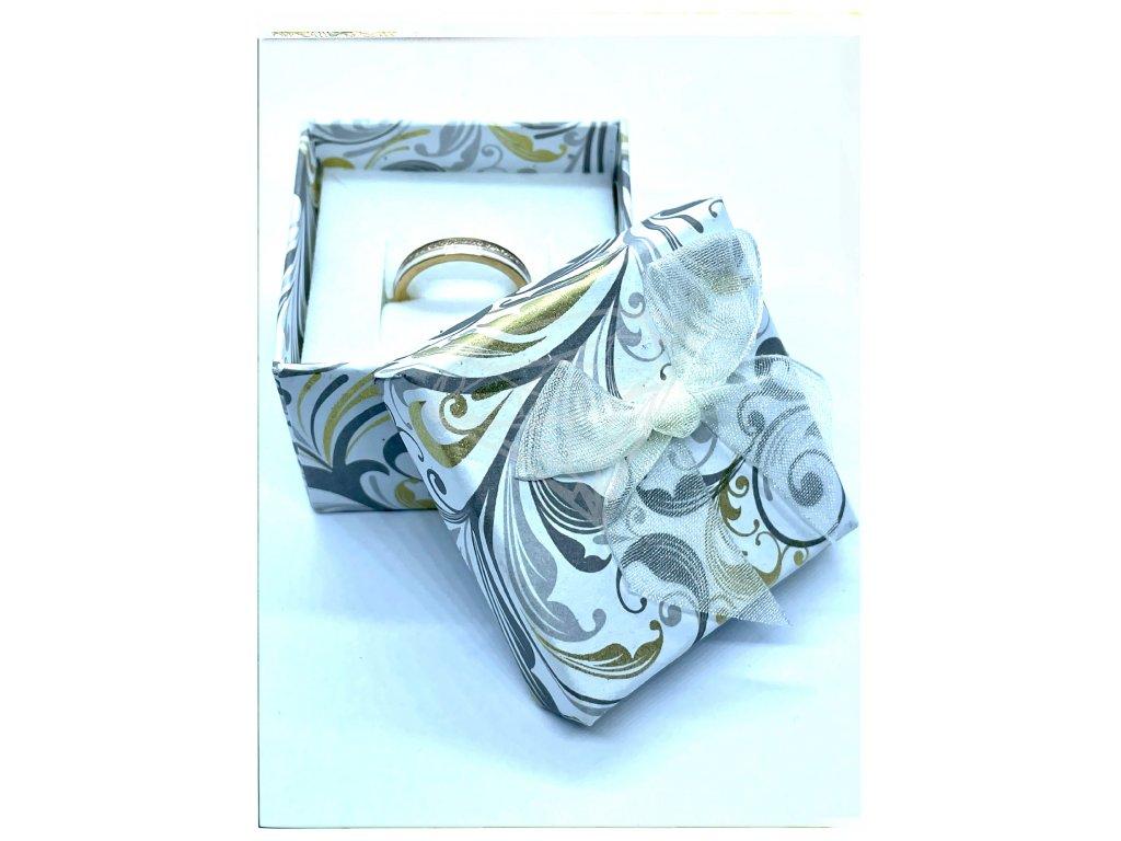 (A003) Papírová krabička na šperky s mašlí