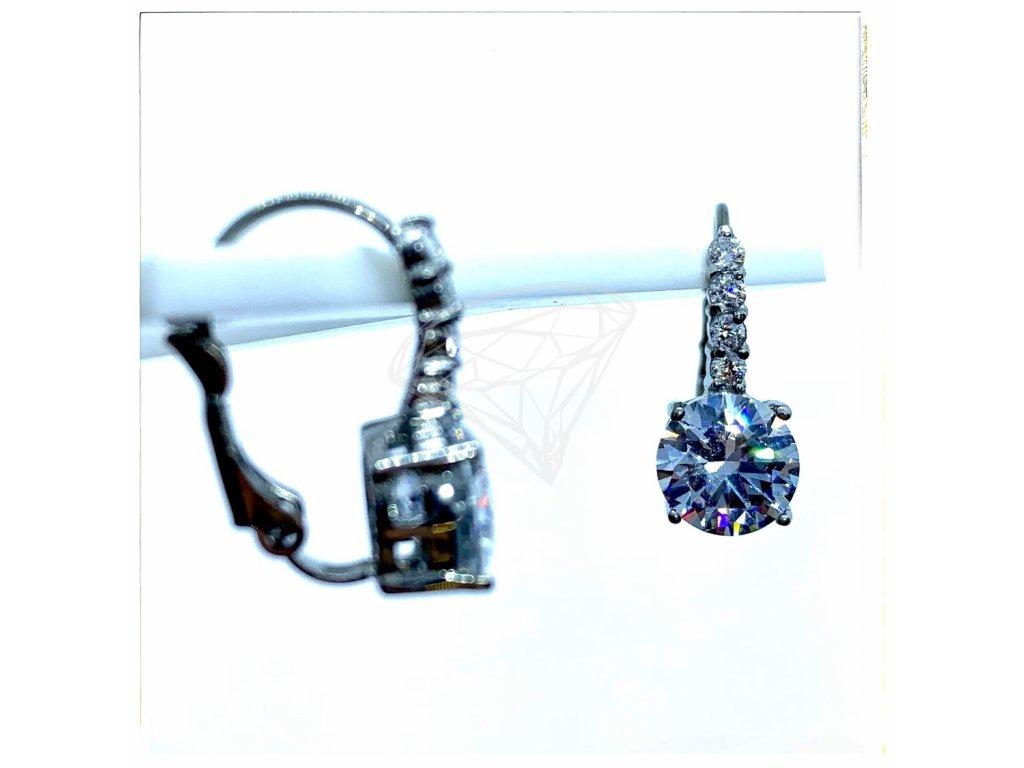 (O203) Ocelové dámské náušnice s kamínky (0,8 cm), na klapku
