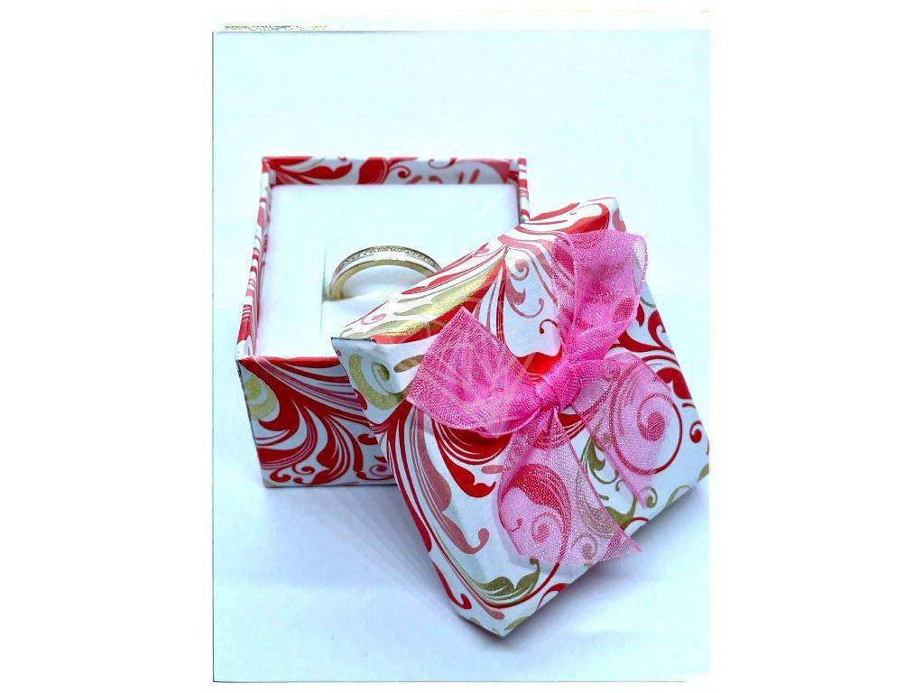 (A004) Papírová krabička na šperky s mašlí