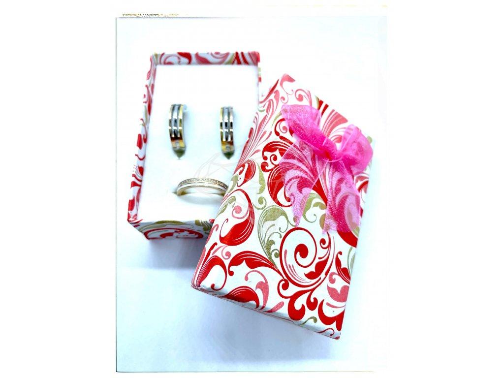(B005) Papírová krabička na šperky s mašlí