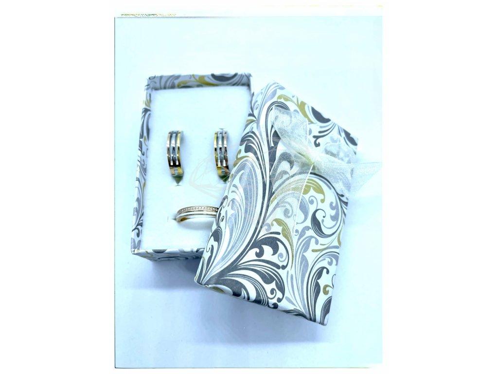 (B006) Papírová krabička na šperky s mašlí