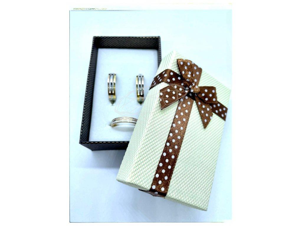 (B007) Papírová krabička na šperky s mašlí