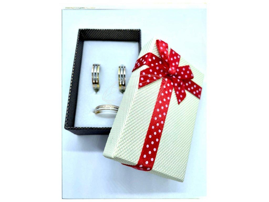 (B008) Papírová krabička na šperky s mašlí