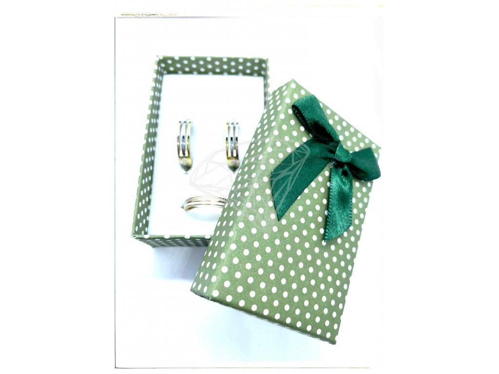 (B009) Papírová krabička na šperky s mašlí