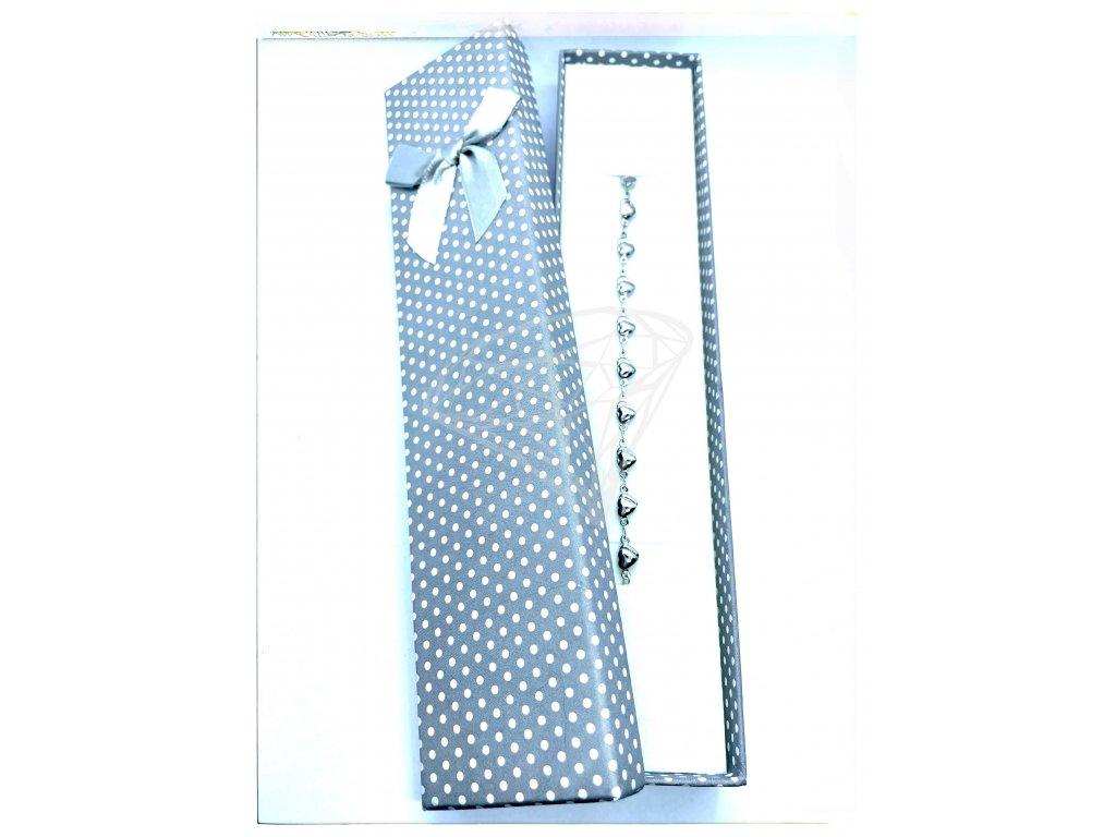 (C010) Papírová krabička na šperky s mašlí