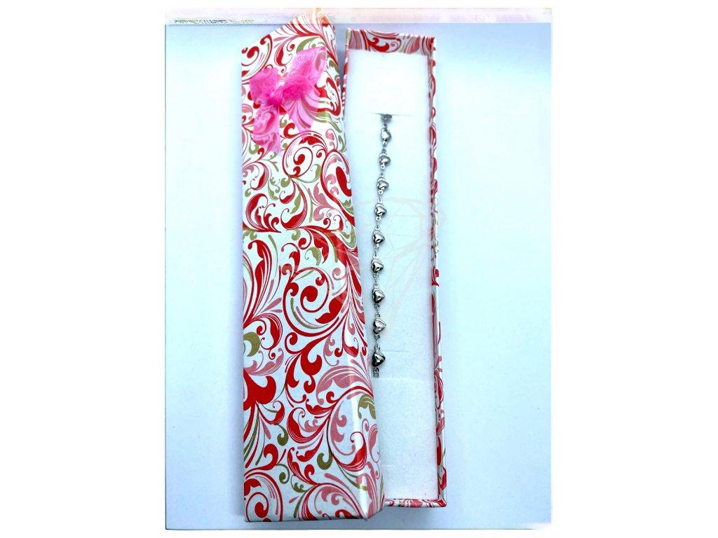 (C011) Papírová krabička na šperky s mašlí