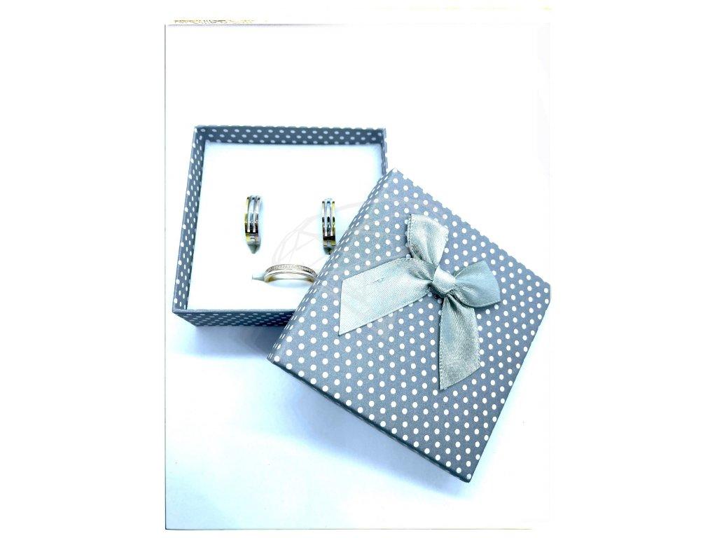 (D015) Papírová krabička na šperky s mašlí