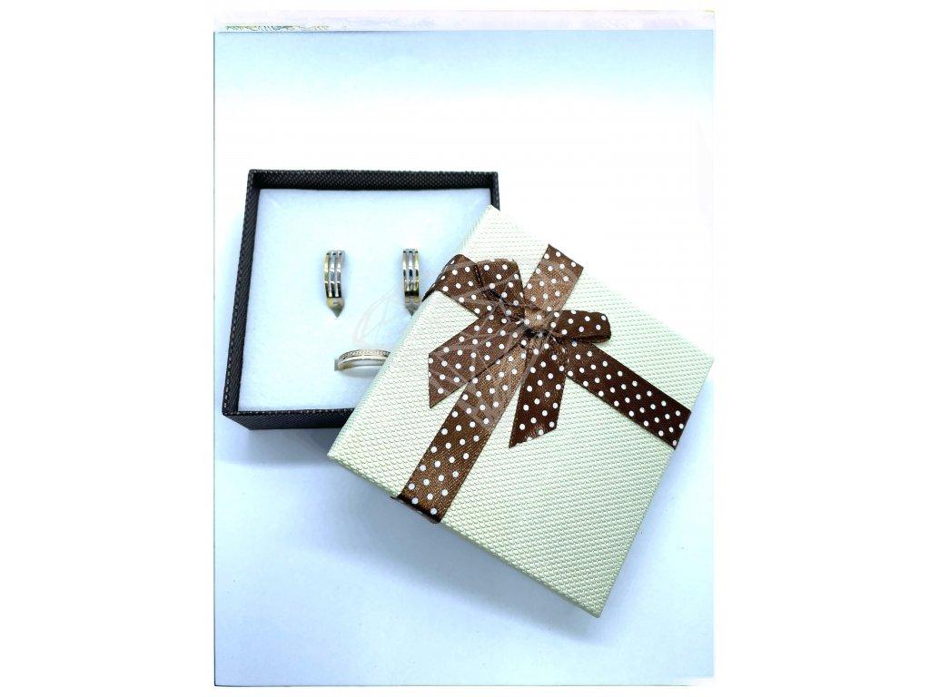 (D016) Papírová krabička na šperky s mašlí