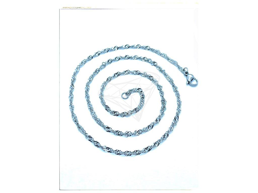 (O377) Ocelový dámský řetízek 36 - 50 cm/0,25 cm, kroucený LAMBÁDA