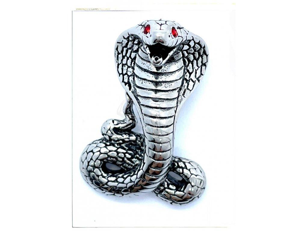 (O3422) Ocelový přívěšek HAD kobra