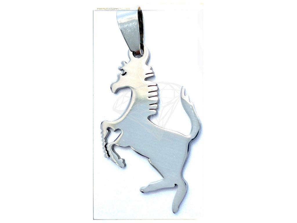 (O3455) Ocelový přívěšek KŮŇ