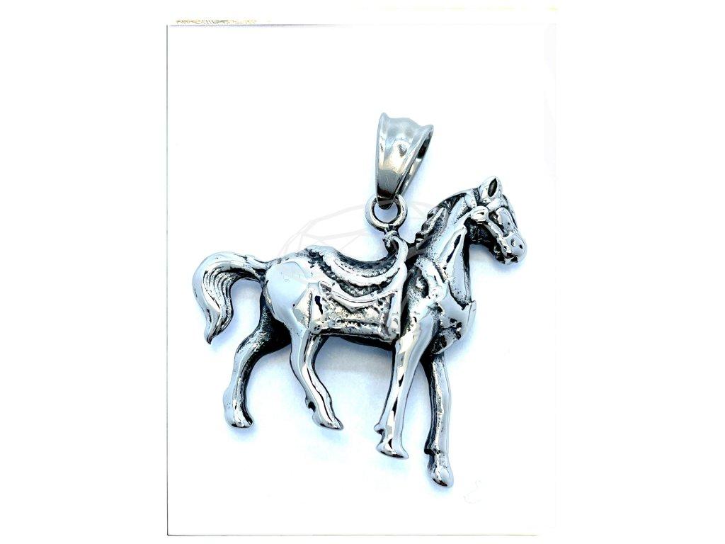 (O3458) Ocelový přívěšek KŮŇ