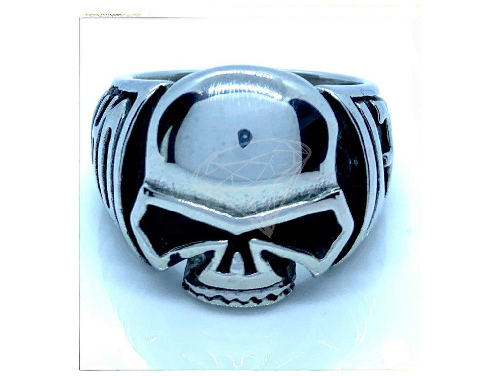 (O101) Ocelový pánské prsten s LEBKOU 1