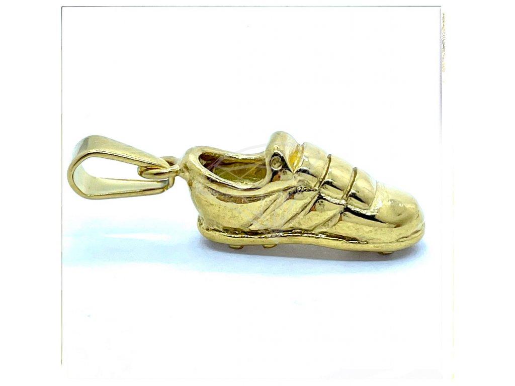 (O3812) Ocelový přívěšek BOTY/KOPAČKA, GOLD/zlatá barva