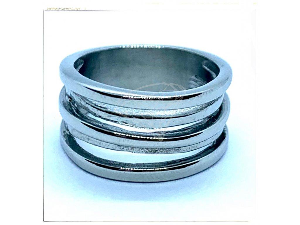 (O151) Ocelový dámský prsten bez kamínků JANA