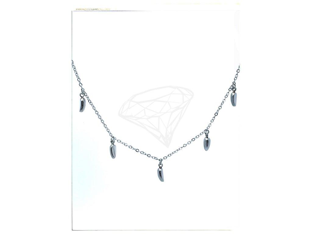 (O4031) Ocelový dámský set/náhrdelník ZRNKA