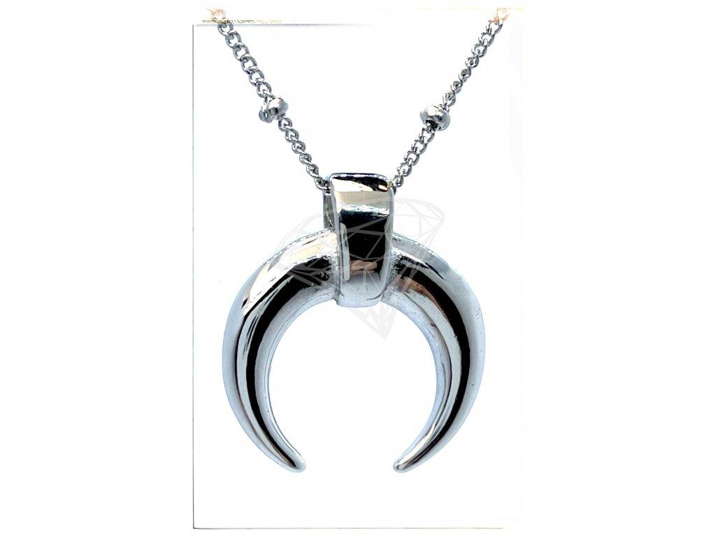 (O4045) Ocelový dámský set/náhrdelník s MĚSÍCEM bez kamínků