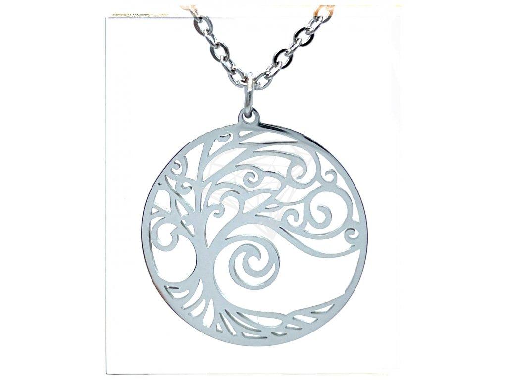 (O4056) Ocelový dámský set/náhrdelník STROM ŽIVOTA