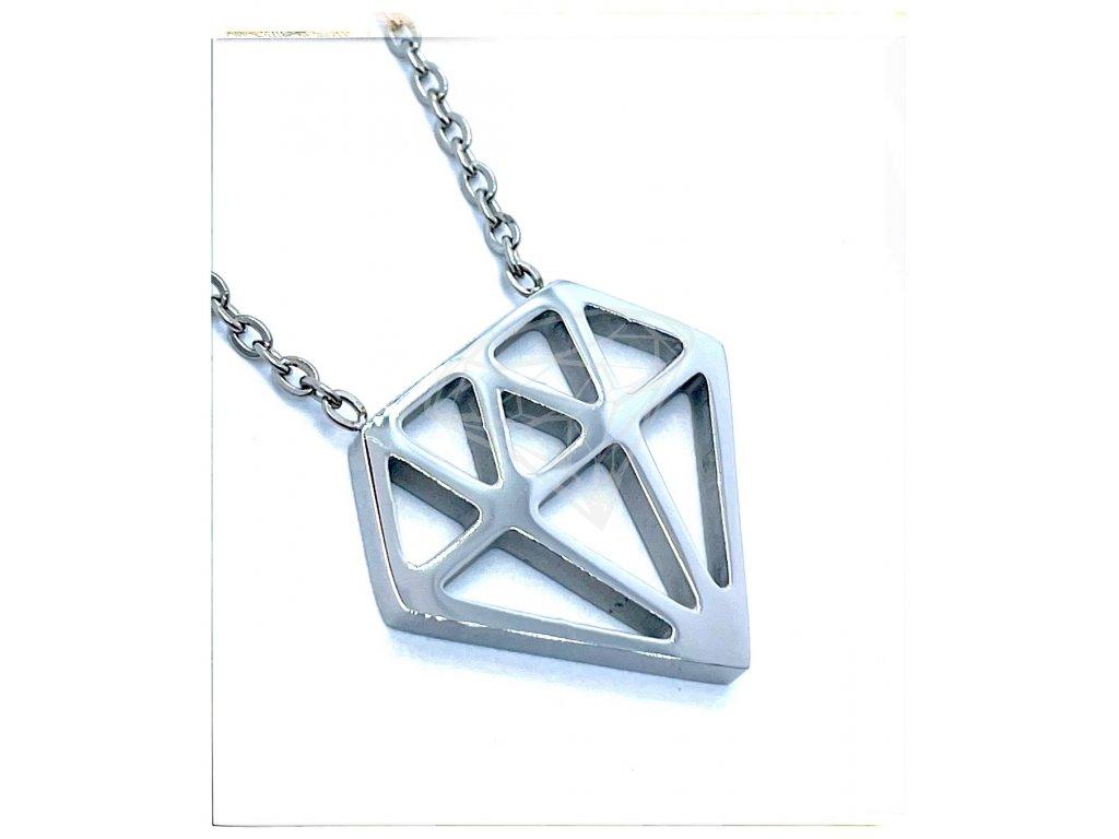 (O4057) Ocelový dámský set/náhrdelník DIAMANT